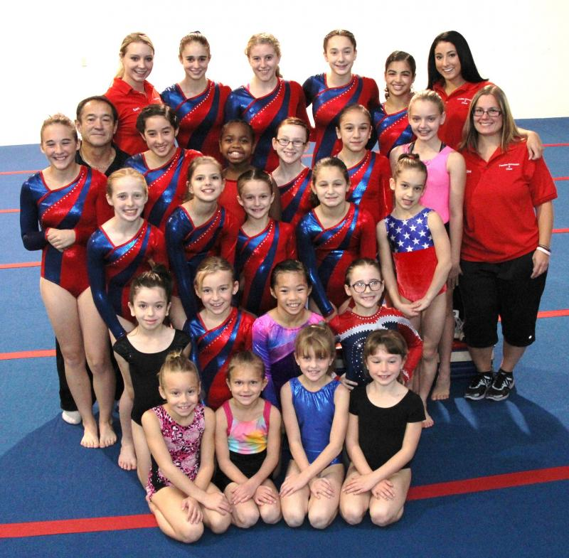 Freedom Gymnastics Team and Coaches