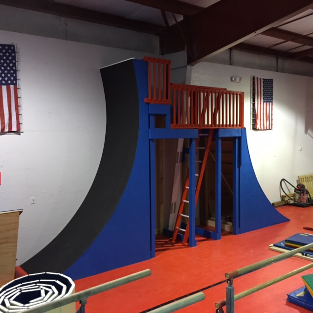 Freedom Gymnastics Warped Wall - 12 ft tall
