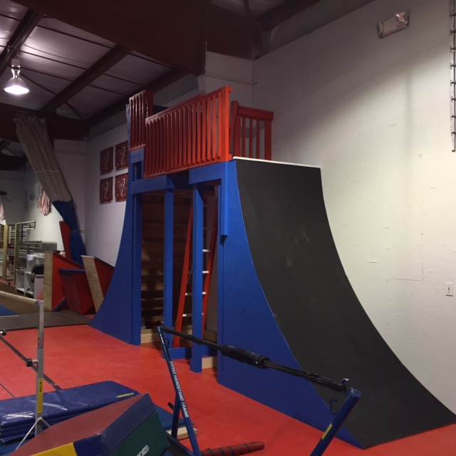Freedom Gymnastics Warped Wall - 8 ft tall